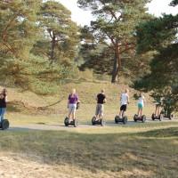 Segway-Veluwe bos en heide tour. Ontspannen outdoor uitje voor bedrijf, afdeling, familie en/of vrienden.